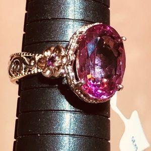 NWT Gems En Vogue 925/18k Topaz/Tourmaline Ring